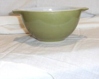 Vintage Pyrex Olive Green Bowl