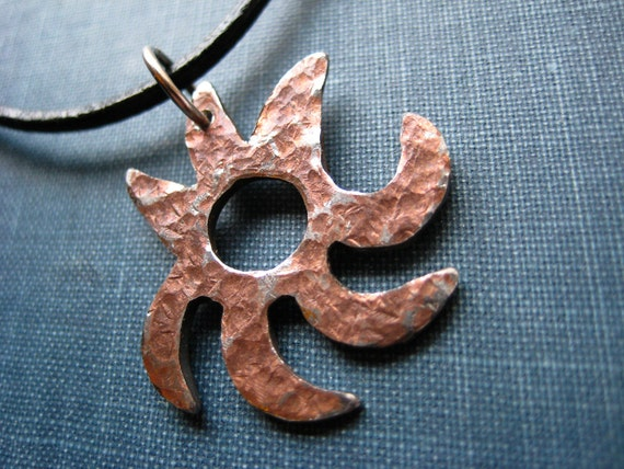 Abstract Metal Sun Necklace