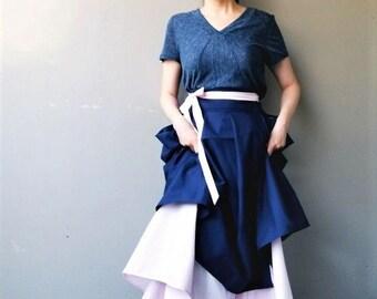 Midnight: 2-tier Cotton Wrap Skirt