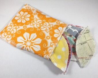 Reusable Interlabial Pads Set of 10 Random Prints Free Storage Bag