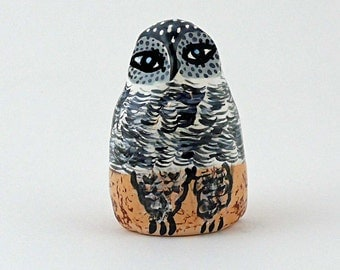 Ceramic Owl Sculpture, Decorative Birds, Ceramics Birds, Decorative Birds, Animal Art, Birds, Bird Art, Decorative Owls, Small Colorful Bird