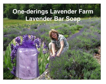 Lavender Soap- Cold Process, Rich Oil blend and  French and EnglishLavender Essential Oils-