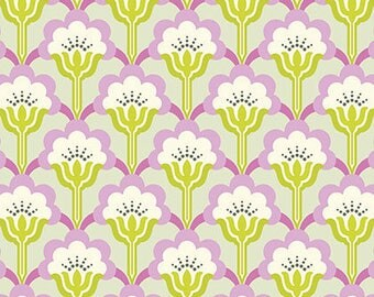 Nicey Jane Slim Pop Blossom in Dove by Heather Bailey - Half Yard