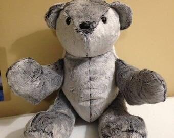 Faux Fur Teddy Bear, Bear, Stuffed Animal, Stuffed Toy