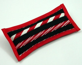 Christmas Catnip Toys, Christmas Cat Toys, Candy Cane Cat Toy, Red Black and White, Christmas Straws, Peppermint Straws, PEPPERMINT PILLOW