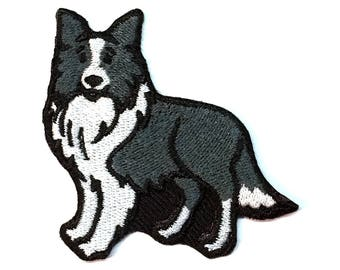 Border Collie Iron on Patch No Name