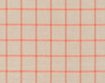 "Broadcloth-45""-Twig/Coral Plaid"