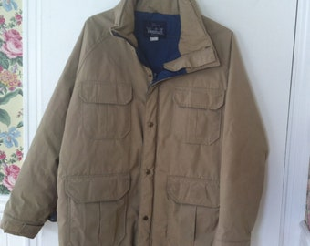 Woolrich mens large winter coat made in the USA