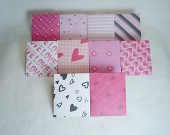 Love Envelopes, Mini Envelopes, Mini Love Envelopes, Mini Envelopes with Note Cards, Set of Ten Mini Envelopes