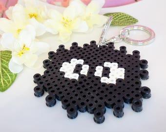 Soot Sprite perler bead keychain, spirited away black soot sprite kawaii keychain, totoro soot sprite keychain