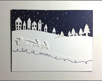 Let it Snow - Winter Holidays Handmade card