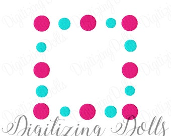 Polka Dot Frame 2 Machine Embroidery Design 3x3 4x4 5x5 6x6 Solid Fill Name Monogram Alphabet INSTANT DOWNLOAD