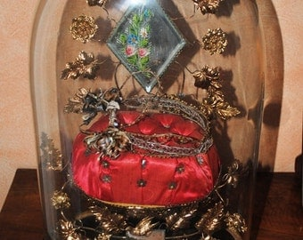 Antique FRENCH WEDDING DOME Keepsake Memorial Globe de Mariee