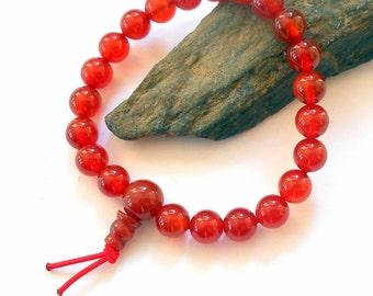 Red Agate Mala Power Bracelet