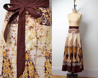 1970s Batik Wrap Skirt