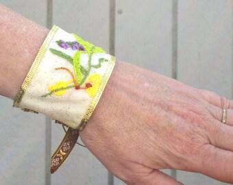 Sleepy Hollow Inspired Hand Embroidered Katrina Breacelet
