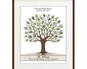 Teacher Fingerprint Tree, Teacher Appreciation Gift, Guest Book Tree Personalized Thumbprint Guestbook Teacher Gift - DIGITAL PRINTABLE JPEG