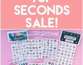 SECONDS Nail decals by Hannah Daisy