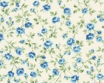 Robert Kaufman - Blue Petite Floral by Robert Kaufman Sevenberry Petite Victoriana Collection - Japanese Cotton Fabric - choose your cut