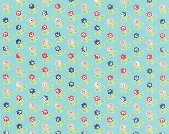 One Yard - Vintage Picnic by Bonnie and Camille for Moda - Rosie in Aqua - 55121-12