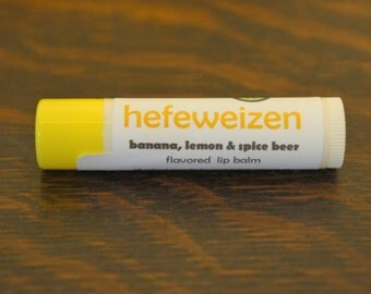 Hefeweizen lip balm - craft beer inspired lip balm - banana, lemon and spice beer flavored lip balm