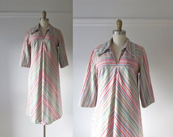 70s dress / Rainbow Connection / vintage 1970s dress