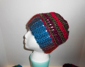 Warm Plush softness Ponytail hat hand crochet by kams-store.com