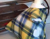 Fleece Winter Coat for the Lawn goose ~ 2 piece winter coat ~ Plastic or Concrete lawn goose clothing