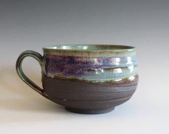 Cappuccino Mug, 27 oz, Pottery Coffee Mug, handmade ceramic soup bowl, handthrown ceramic stoneware pottery mug, unique coffee mug