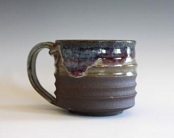 Coffee Mug Pottery, 12 oz, handmade ceramic cup, handthrown mug, stoneware mug, pottery mug, unique coffee mug, ceramics and pottery