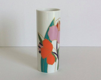 Beautiful Hand-Painted Art Vase Rosenthal Studio Linie Germany W. Bauer