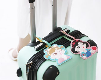 Cute Cartoon Luggage Tag Identification Tag-Travel PU Tag