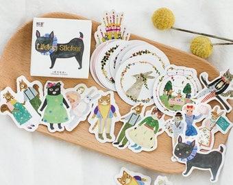 45 Pcs Fashion Planner Stickers Decorative Stickers Die Cut Stickers