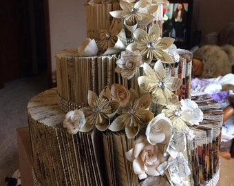 Book Sculpture Wedding Cake OOAK Centerpiece