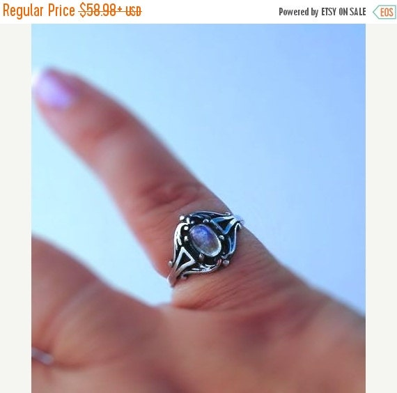25%Off Sweet Rainbow Moonstone Ring sterling silver friendship handmade fine jewelry custom white opal 3 3.5 4 4.5 5 5.5 6 6.5 7 7.5 8 8.5 9