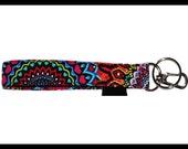Tribal, Key Wristlet , Key Fob, Swivel Hook, Key Chain