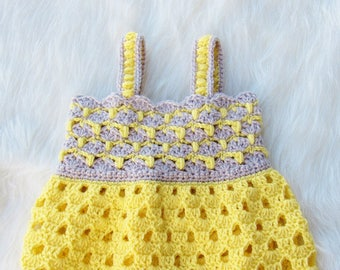 Crochet Baby Dress Pattern, Baby Dress Crochet pattern, Crochet Summer Baby Dress Pattern, Crochet Spring Baby Dress Pattern, Sunshine Dress