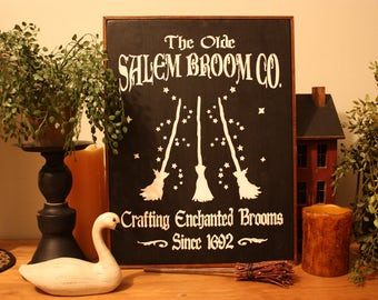 Olde Salem Enchanted Brooms Wall Sign