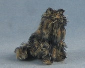 Tortoiseshell Cat Soft Sculpture Miniature by Marie W. Evans