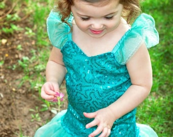 Little Mermaid dress little girls mermaid blue