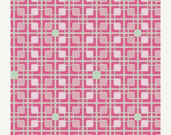 40% OFF SALE - Labyrinth in Flamingo (HG-7409) - Hyperreal Garden - Patricia Bravo for Art Gallery Fabrics - By the Yard