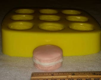 Mini French Macaron Soap & Candle Mold-9 cavities