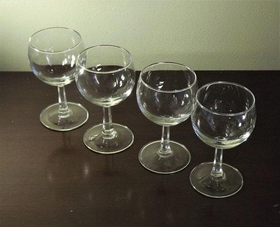 Set Of 4 Mini Wine Glasses Clear Cordial Glasses Wine