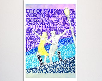 "La La Land ""City of Stars"" word art print - 11x17"""