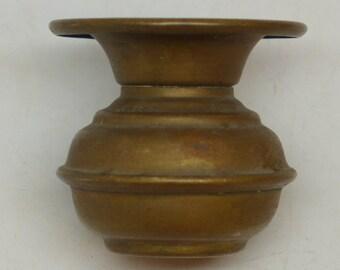 Salesman Sample Spittoon - Salesman Sample Cuspidor - Vintage Brass Spittoon - Antique Spittoon - Cuspidor