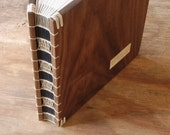 Custom Wood Recipe Book with lined paper vacation home cabin keepsake journal memorial or wedding guestbook -  made to order