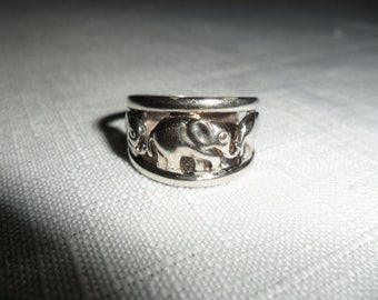 Vintage Sterling Silver Elephant Rings