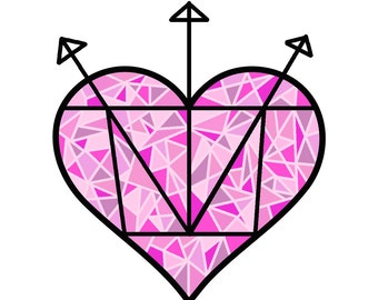 Heart Sigil Spell Sticker - Self Love, Self Care, and Self Protection