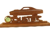 Plymouth Duster Desk Or Shelf Clock Handmade From Cherry Wood By KevsKrafts