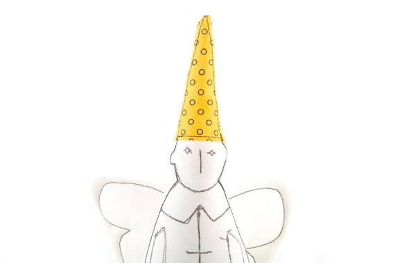 Cupid doll , good luck gift , dwarf doll , Christmas angel , guardian angel , santa Elf , get well gift , baby nursery , decorative Doll